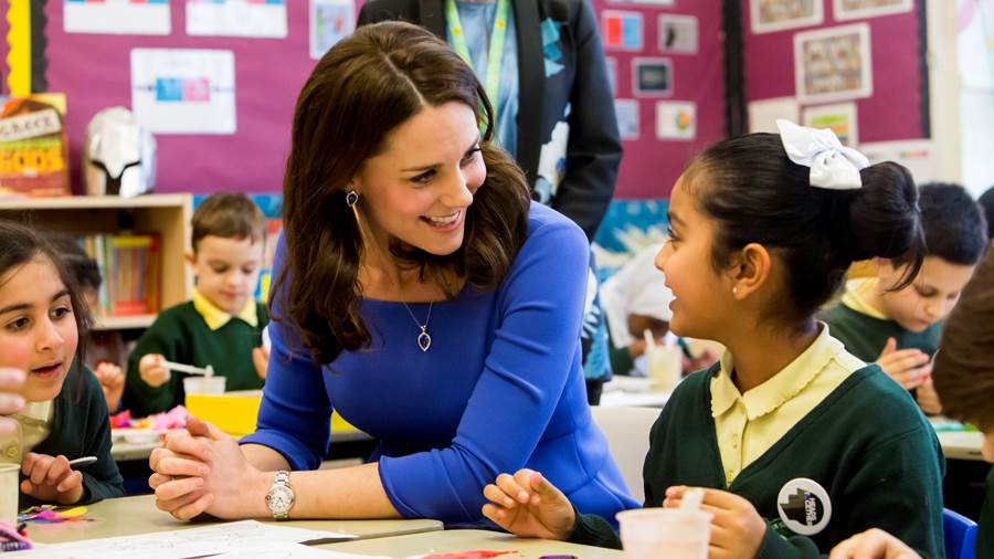 The Duchess of Cambridge at the Mentally Healthy Schools Launch, January 2018