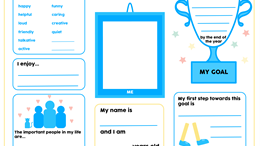 Getting to know me - worksheet for ages 4 to 7