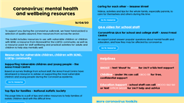 Coronavirus: resources for mental health and wellbeing toolkit #3