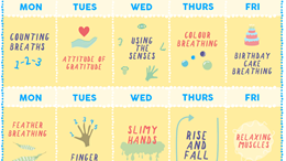 Mindfulness calendar: daily five minute activities
